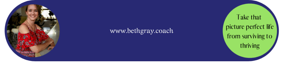 Beth Gray, Coach, inspiring women to thrive beyond their comfort zone