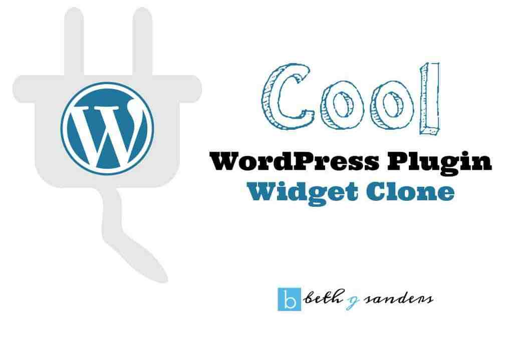Cool WordPress Plugin: Widget Clone