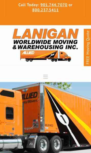 Memphis moving company website