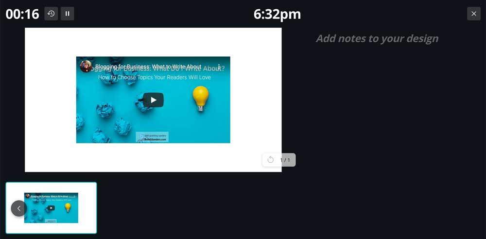 use Canva for presentation