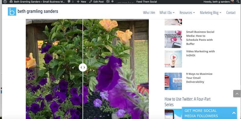 Image compare in WordPress