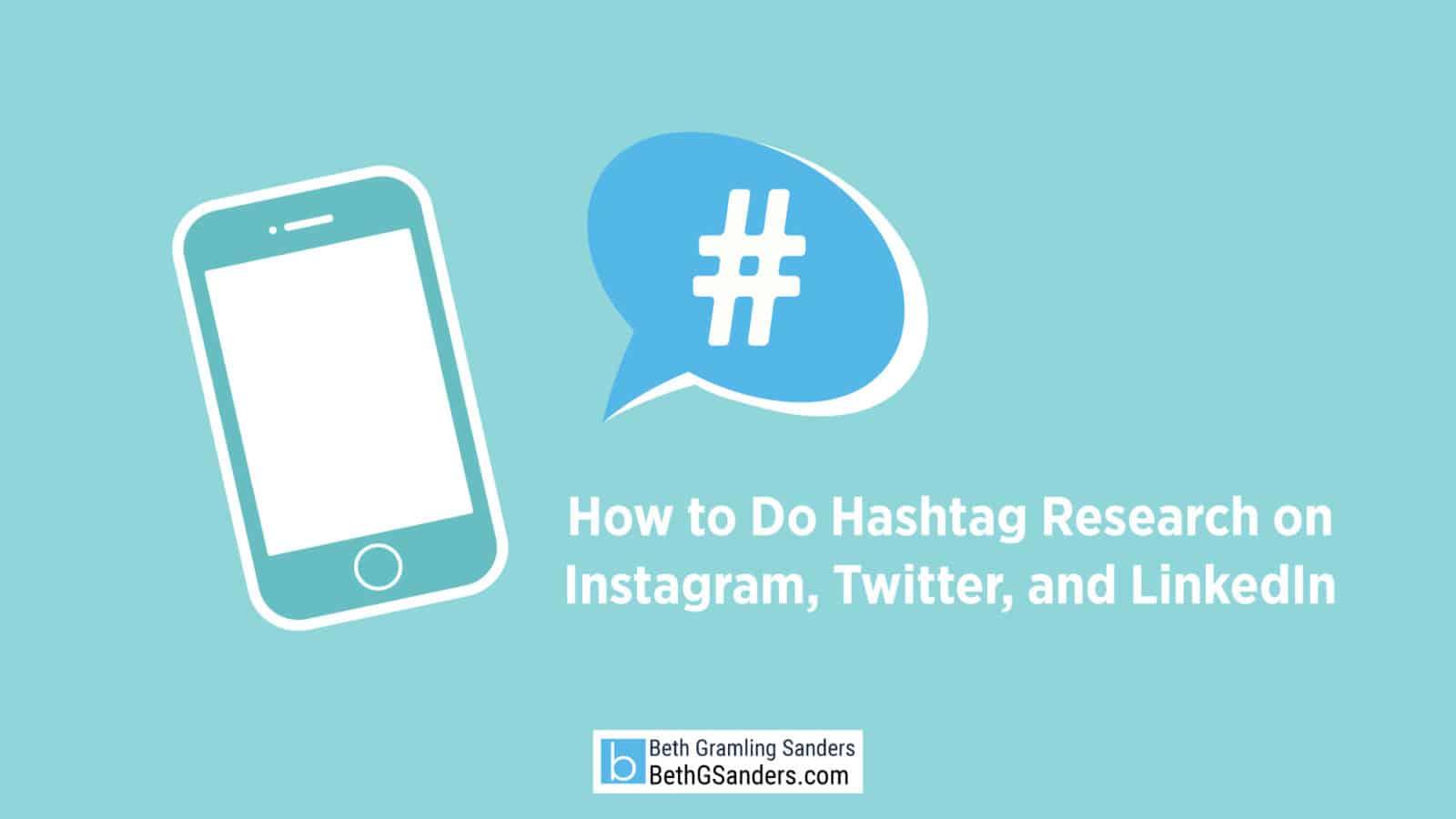 social media hashtag research