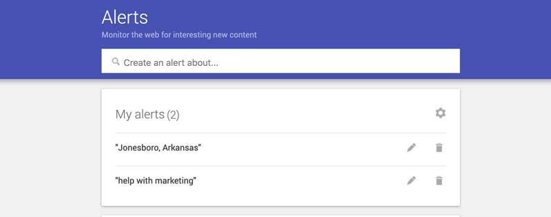 google alerts social listening