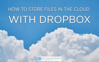Cloud Storage: How to Store Files With Dropbox