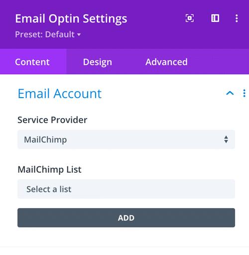 divi theme email optin