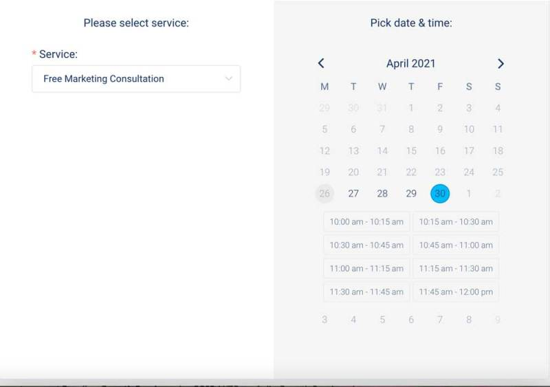 appointment calendar for WordPress