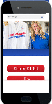 website for a dry cleaner