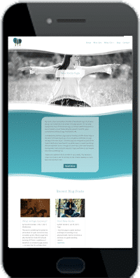 yoga studio website mobile