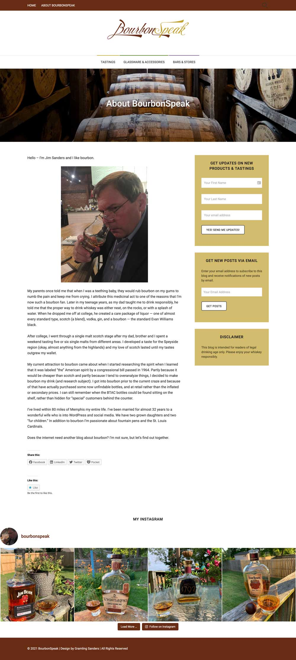 blog about page