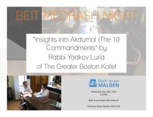 Beit Medrash Night - Flyer