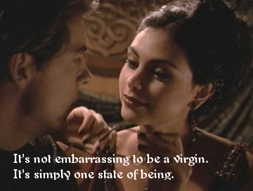 It's not embarrassing to be a virgin. It's simply one state of being.