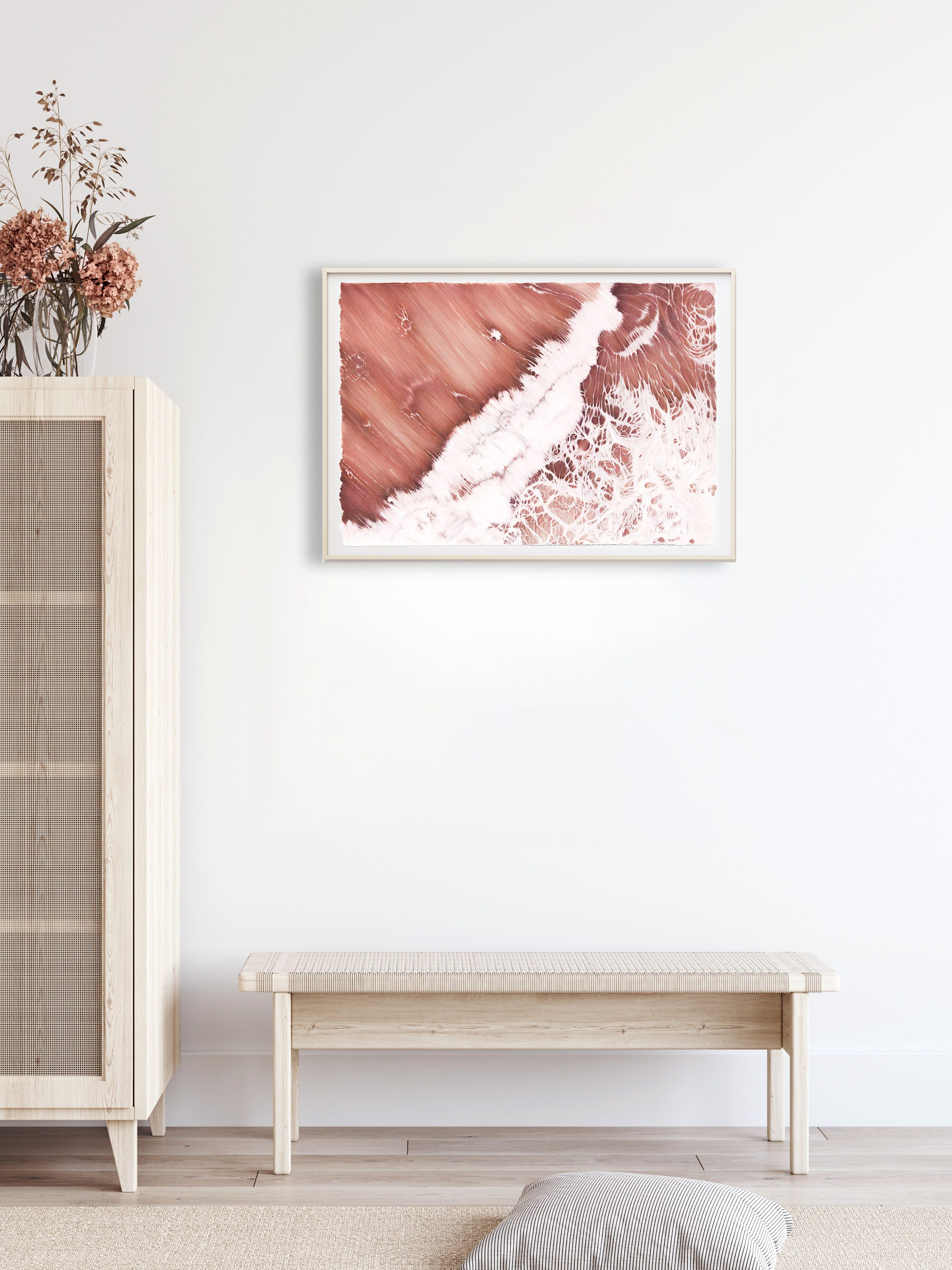 'The Sea is a Woman' artwork by Bethany Moffat hanging on a wall