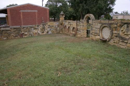 Hays Stone Gallery courtyard Kansas Oct 2009