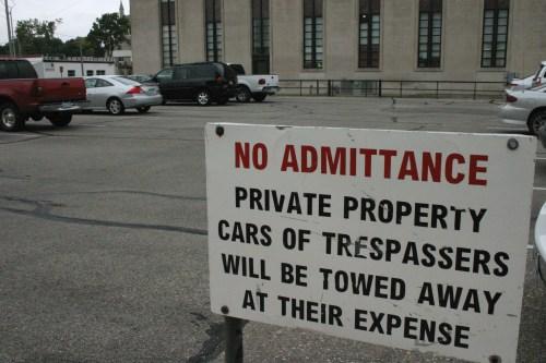 Salina parking sign near Smoky Hill Museum Kansas Oct 2009