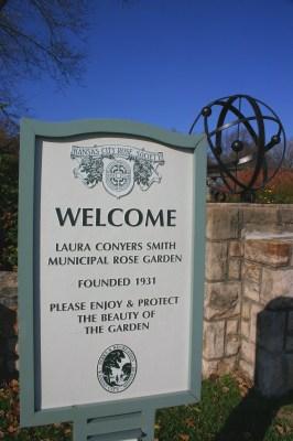 Loose Park Rose Garden sign KC Nov 2009