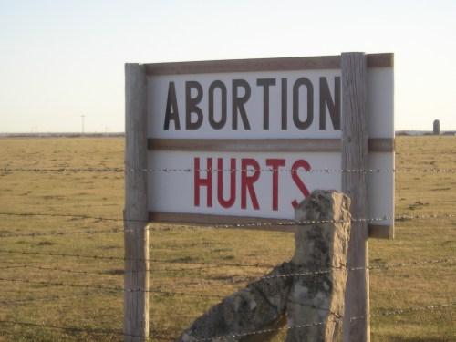 anti-abortion signs, Kansas, pro-life
