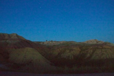 NN Badlands National Park Yellow Mounds at Night July 2011 (1)