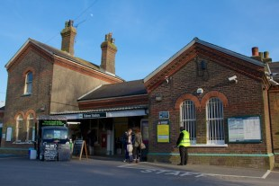 Falmer train station, University of Sussex