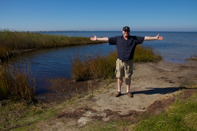 Todd at Pea Island NWR, Outer Banks, NC Oct 2012