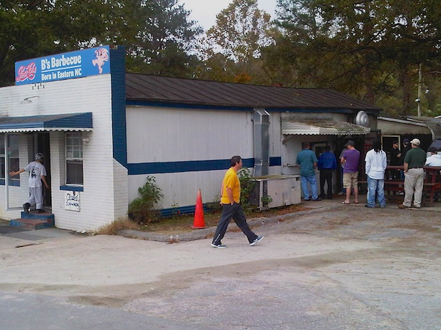 Bs Barbecue takeout line, Greenville, NC October 2012