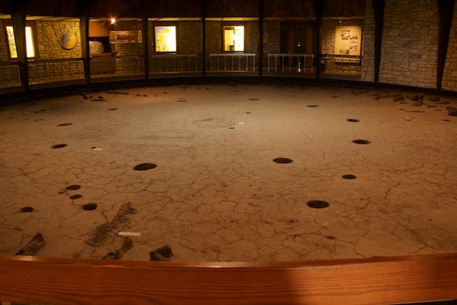 Pawnee Indian Village Museum, interior earth of lodge, Republic, Kansas, April 2015