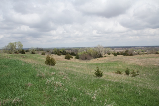 Pawnee Indian Village Museum, possible view toward the river, Republic, Kansas, April 2015