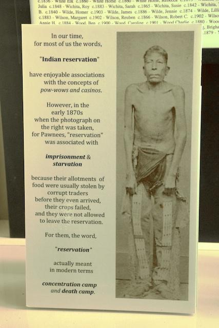Pawnee Indian Village Museum, reservations as concentration camps, Republic, Kansas, April 2015