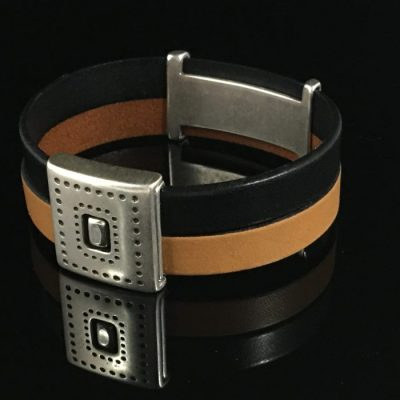 Native American Leather Bracelet
