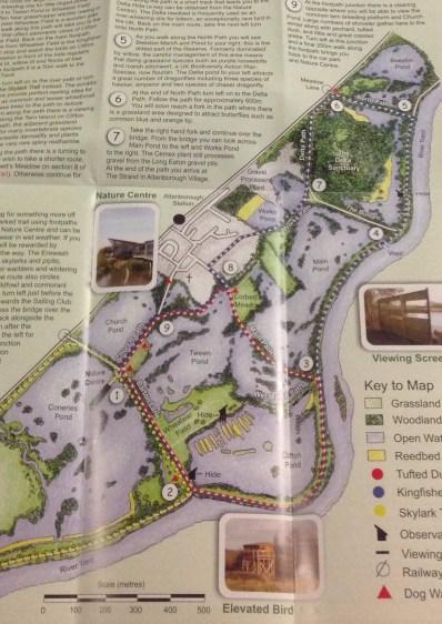 Attenborough Nature Reserve Map