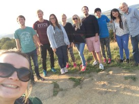 A yorkshire walk with the team and students