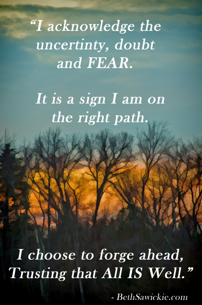 """Acknowldedge the Fear"" - www.BethSawickie.com"
