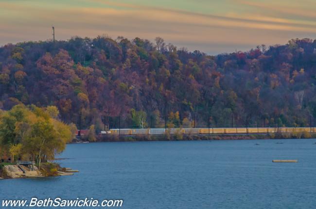 Columbia PA Bridge Train by Beth Sawickie fall-stroll-columbia-bridge-susquehanna