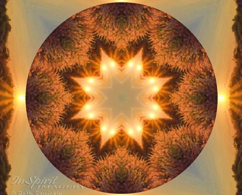 Island Beach Sunset Mandala by Beth Sawickie http://bethsawickie.com/island-beach-sunset-mandala