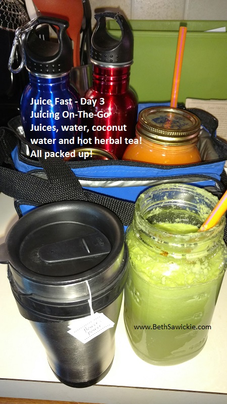 Juice Fast Day 3 - Juicing On the go - Beth Sawickie