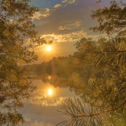 Mirror Lake Sunset 1 by Beth Sawickie http://www.BethSawickie.com/mirror-lake-sunset-1 #sunset #sunsetphoto #settingsun #newjersey