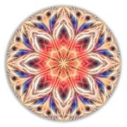 Peaceful Heart Mandala by Beth Sawickie