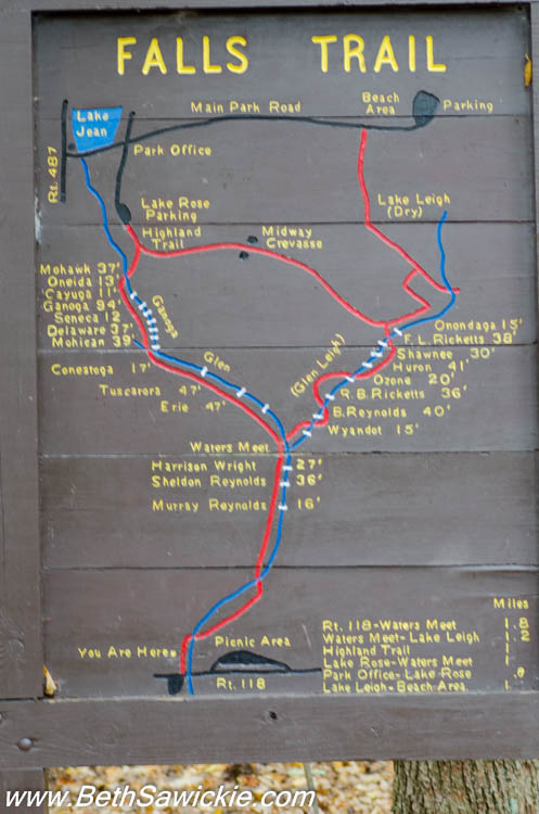 Ricketts Glen Map Along Trail