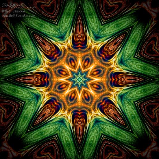 """Image by Beth Sawickie www.BethSawickie.com/ripple-burst-mandala """"Ripple Burst Mandala"""""""