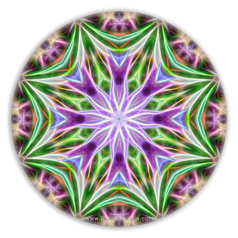 Spring Arrival Mandala by Beth Sawickie