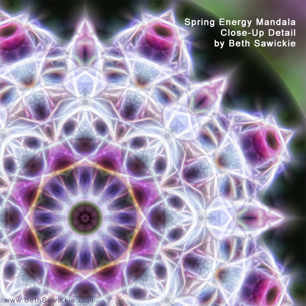Spring Energy Mandala Close-Up Detail by Beth Sawickie