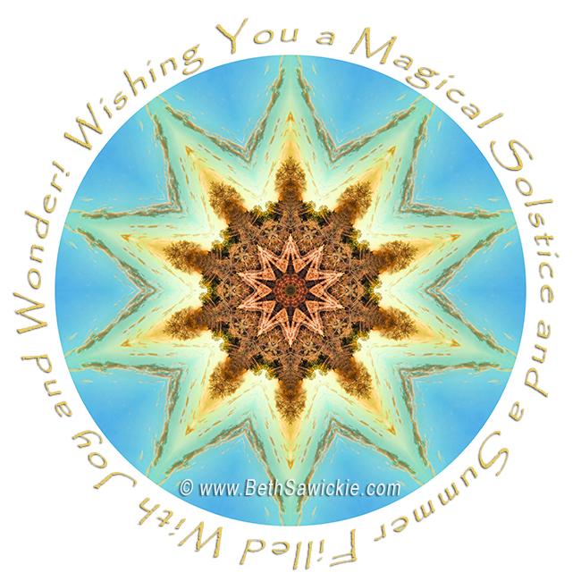Summer Solstice Mandala by Beth Sawickie http://www.bethsawickie.com