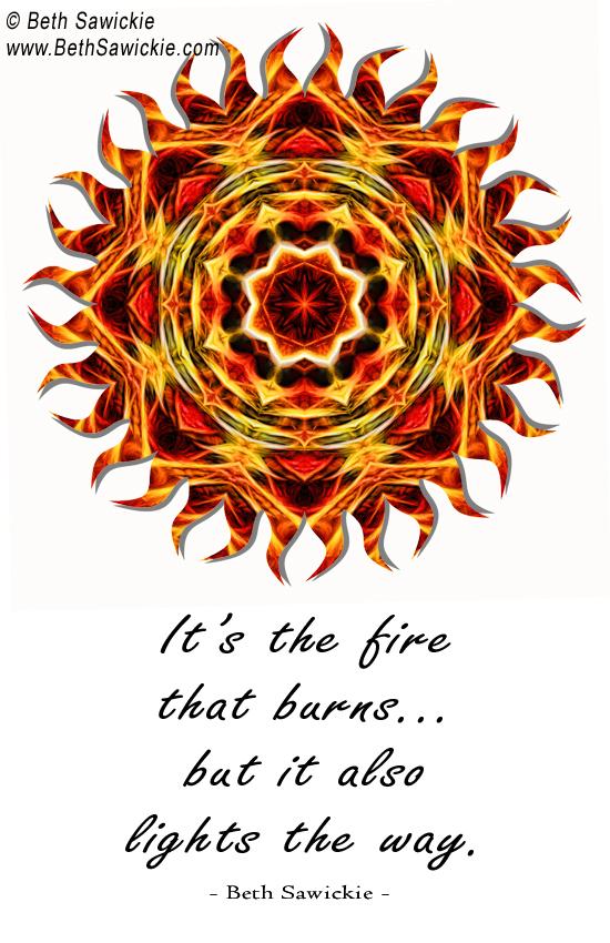 Sun Fire Mandala with Quote http://www.bethsawickie.com/sun-fire-mandala