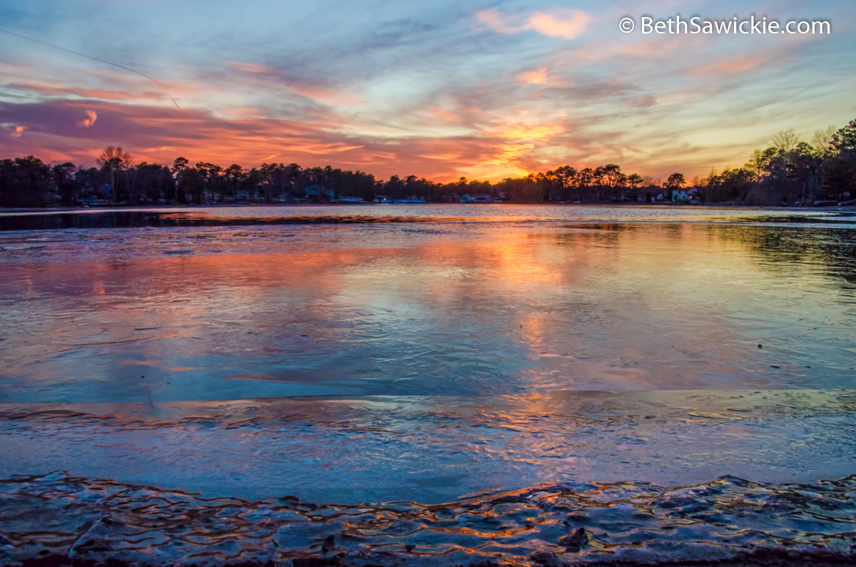 Frozen Sunset #2 by Beth Sawickie