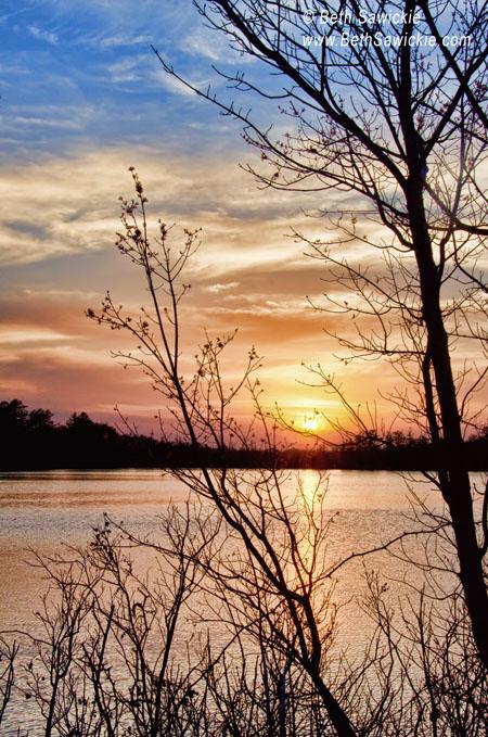 Image by Beth Sawickie. Sunset April 13th www.BethSawickie.com