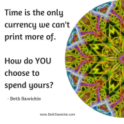 The Currency of Time by Beth Sawickie