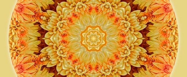 Yellow Orange Mum Mandala by Beth Sawickie http://bethsawickie.com/yellow-orange-mum-mandala