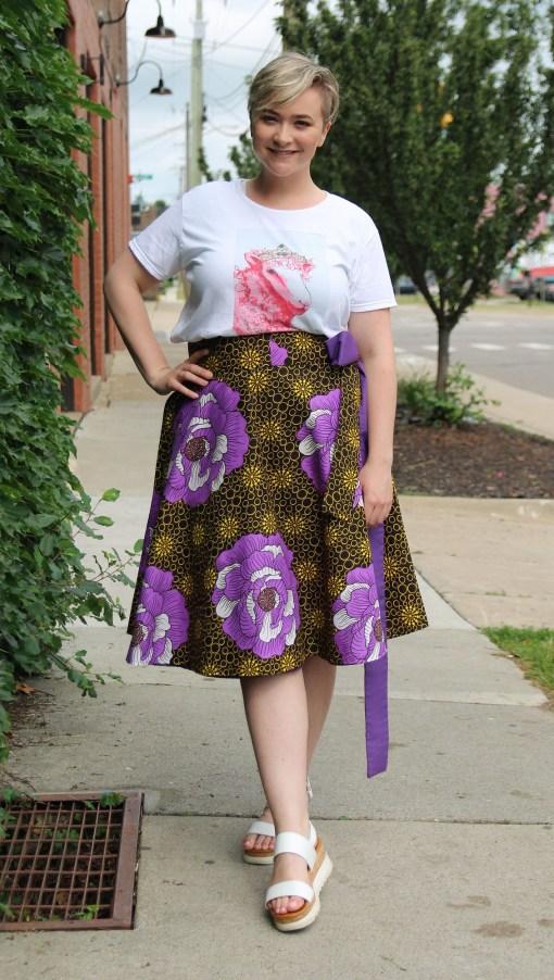 half circle wrap skirt
