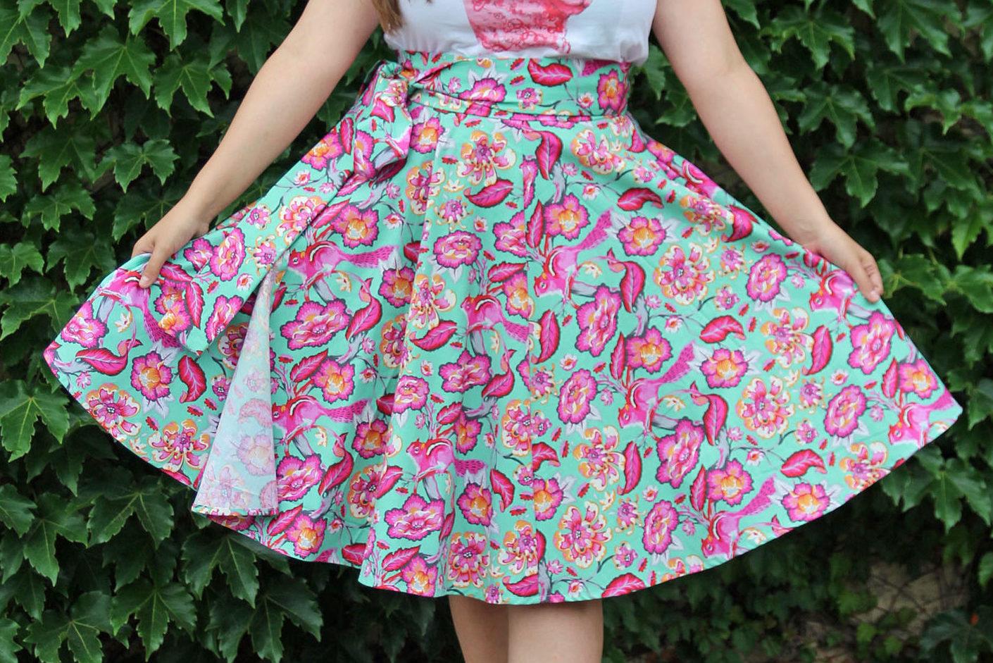 3/4 circle wrap skirt