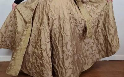 Full Circle Maxi Wrap Skirt – Golden Floral