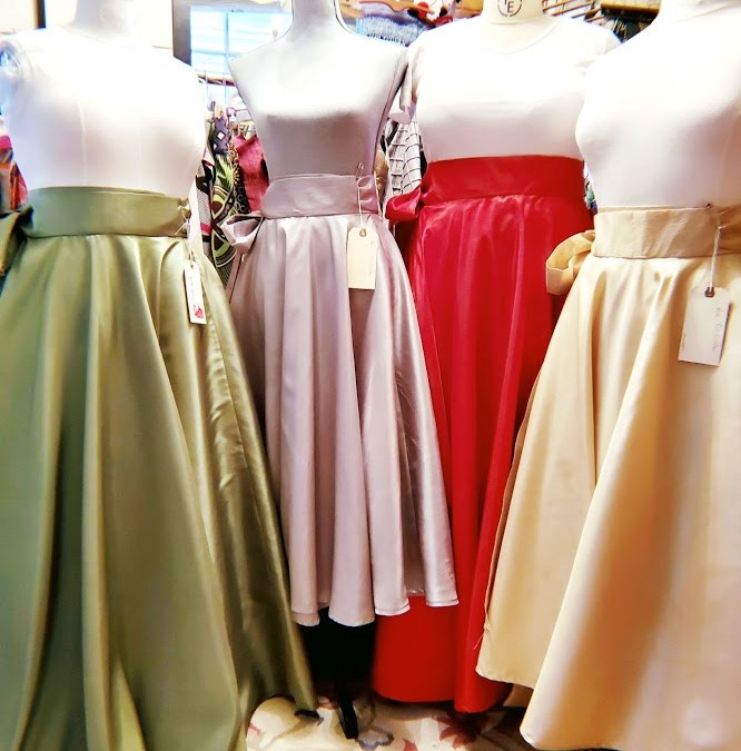 Taffeta skirt quad